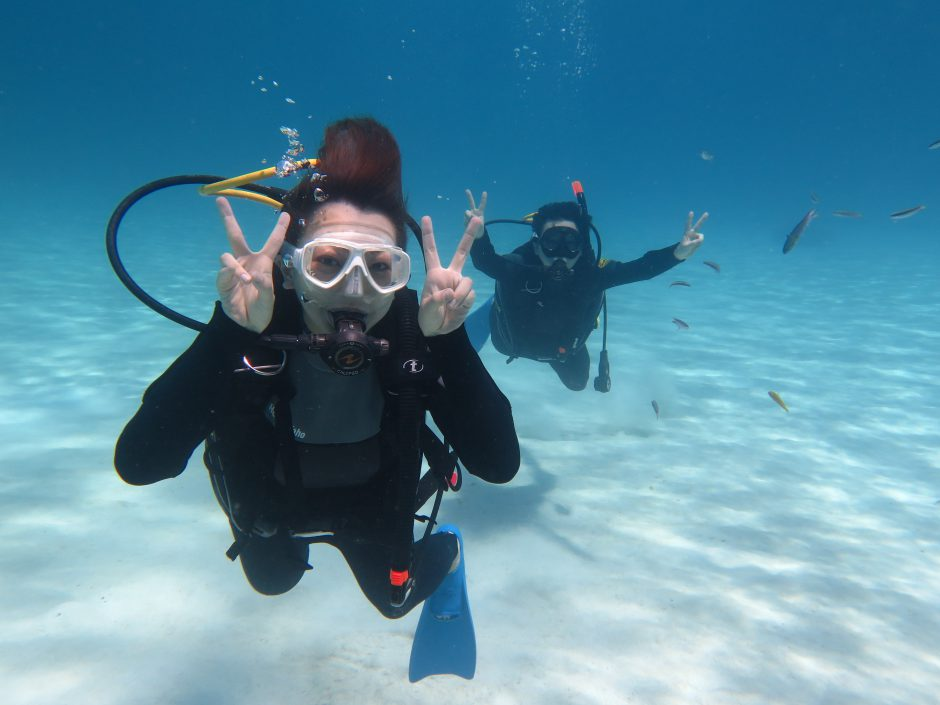 Enjoy diving